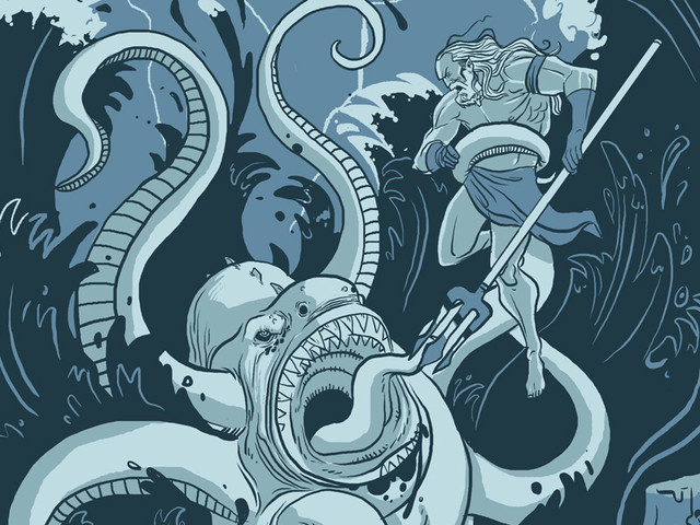 King Neptune Vs. The Sea Monster