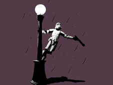 Stormtrooper in the Rain T-Shirt Design by