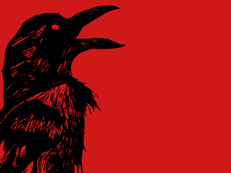 Crow Red Tee  by PrimordialOoze