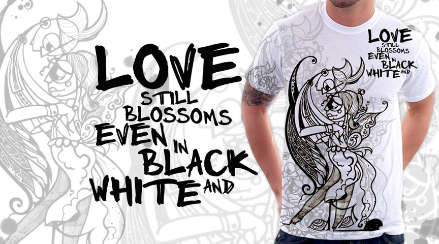 Love still Blossoms even in black and white