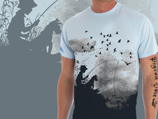 fisherman T-Shirt Design by