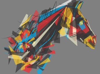 abstract horse by fazlicakir