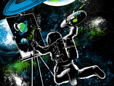 Space Art T-Shirt Design by