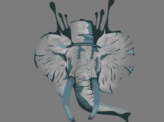 Elegant Elephant by Bluffingpots
