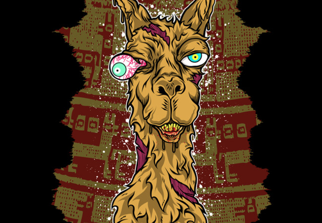 Don't mess with the llama! Art Print  click to zoom Don't mess with the llama!