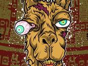 Kannis wearing Don't mess with the llama! Art Print  click to zoom Don't mess with the llama! by Kannis
