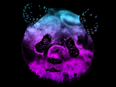 =-NEBULA PANDA-= T-Shirt Design by