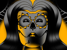 Lady Muerte T-Shirt Design by