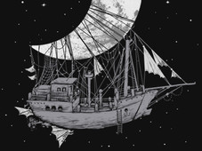 Moon Ship T-Shirt Design by