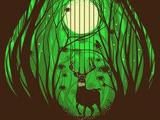 Forest String T-Shirt Design by