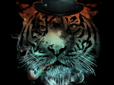 Distinguished Space Tiger T-Shirt Design by
