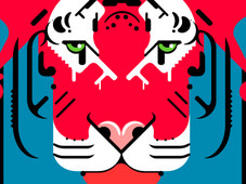 Vector Tiger T-Shirt Design by