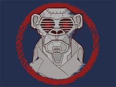 Cyborg Monkey T-Shirt Design by