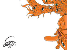 Nine-Tailed fox T-Shirt Design by