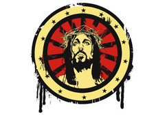 Jesus Illustration T-Shirt Design by