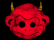 Devil Monkey T-Shirt Design by