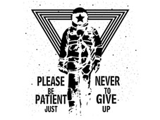 never give up! T-Shirt Design by
