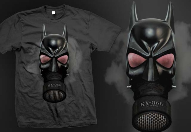 Batman with air mask