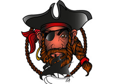 The Pirate T-Shirt Design by
