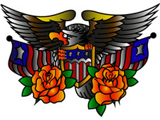 us eagle tattoo art T-Shirt Design by