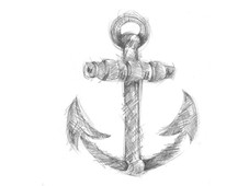 Anchor sketched by rajiv T-Shirt Design by