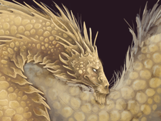 Golden Dragon T-Shirt Design by