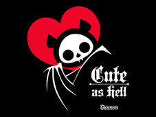 Cute as Hell - The Skelanimals Series T-Shirt Design by