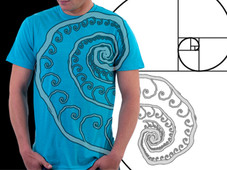 Fibonatures Spiral T-Shirt Design by