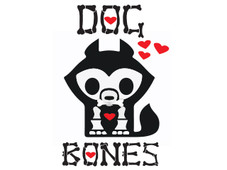 Dog Bones White Tee T-Shirt Design by