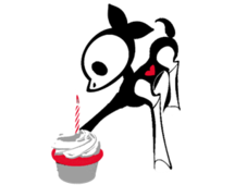 Birthday Cupcake T-Shirt Design by