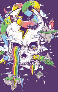 Flying Rainbow Skull Island T-Shirt