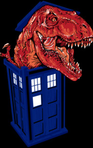 Dinosaur in the TARDIS T-Shirt