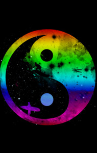yin yang surfers  rainbow version T-Shirt