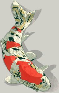 Tattooed Koi T-Shirt