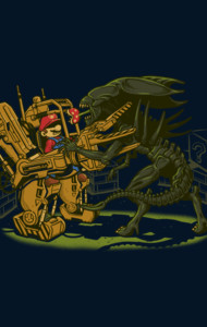 Alien Fighting T-Shirt