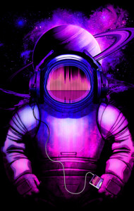 Music in Space V.2 T-Shirt