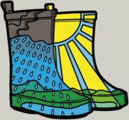 Rainy Day Boots T-Shirt