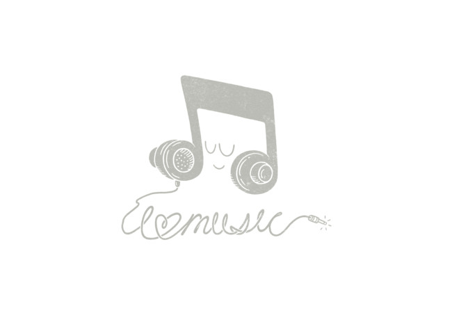 I Love Music (clear graphic)