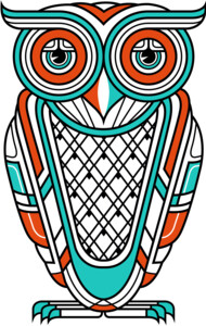 Art Deco Owl (Diurnal) T-Shirt