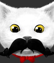 Kitty's Mouse-tache T-Shirt