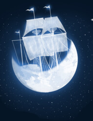 moon sailing T-Shirt