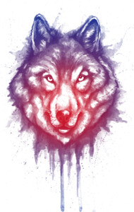 shading of wolf T-Shirt