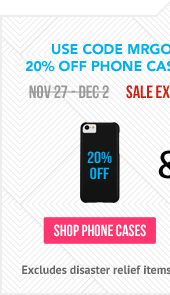 Use Code MRGOODDEAL for 20% off Phone Cases