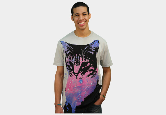 [ Space Cat ] T-Shirt - Design By Humans