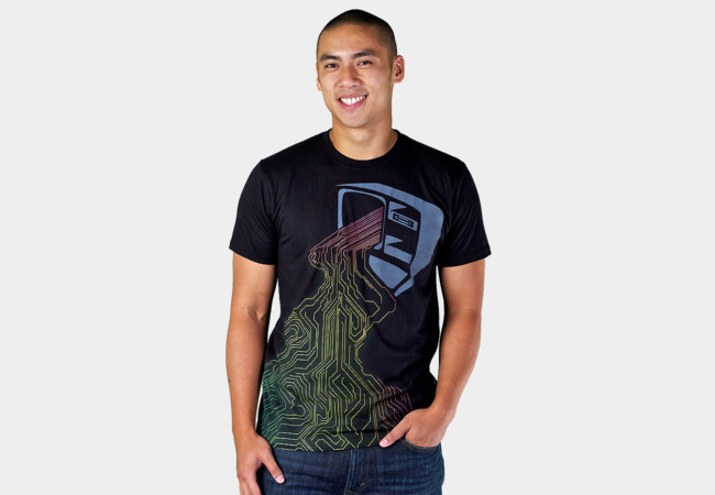Digital Stream T-Shirt - Design By Humans