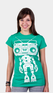 Boombox Boy Bot Women's