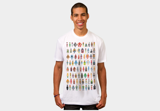 Pixel Heroes T-Shirt - Design By Humans