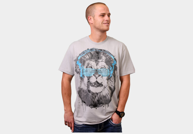 Shady Lion T-Shirt - Design By Humans