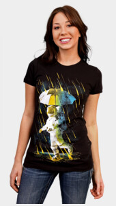 Meteor Shower In Space Women's
