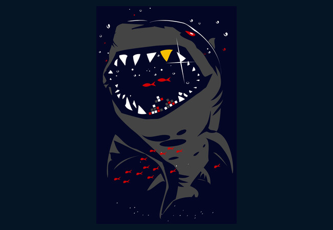 Limited Edition - Shark with Pixelated Teeth
